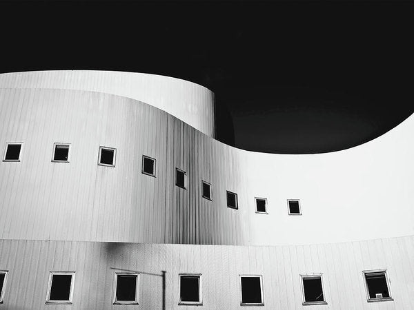 Curved Building Architecture - Art Print from Wallasso - The Wall Art Superstore