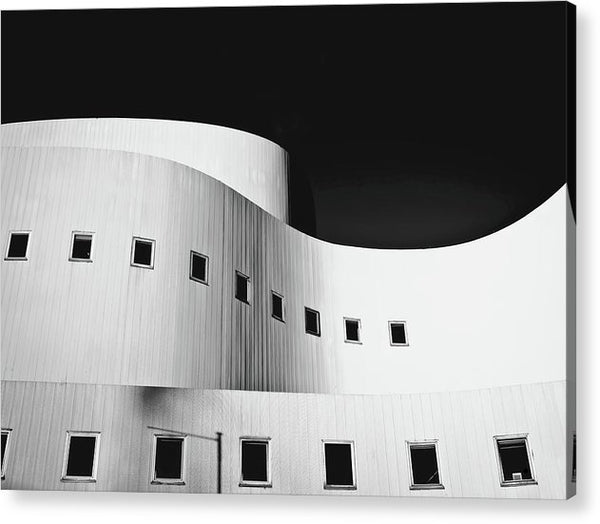 Curved Building Architecture - Acrylic Print from Wallasso - The Wall Art Superstore