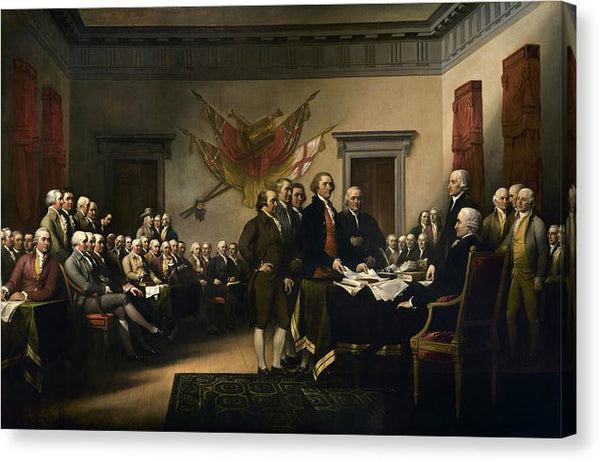 Declaration of Independence by John Trumbull, 1819 - Canvas Print from Wallasso - The Wall Art Superstore