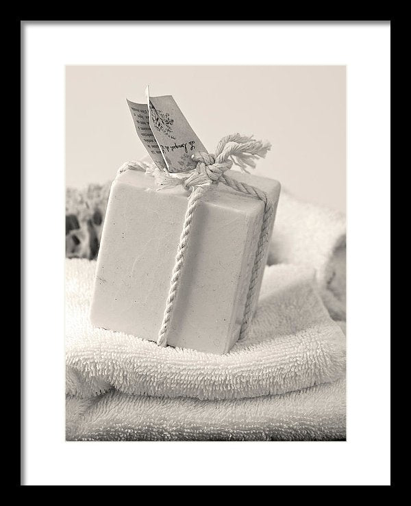 Decorative Bath Soap - Framed Print from Wallasso - The Wall Art Superstore