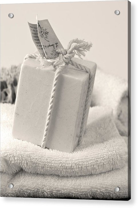 Decorative Bath Soap - Acrylic Print from Wallasso - The Wall Art Superstore