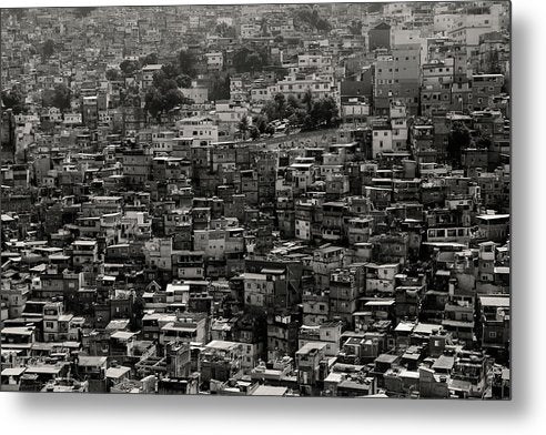 Dense Favela Neighborhood - Metal Print from Wallasso - The Wall Art Superstore