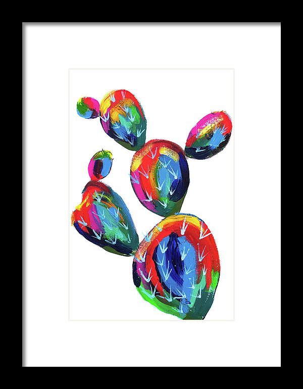 Desert Paddle Cactus by Jessica Contreras - Framed Print from Wallasso - The Wall Art Superstore