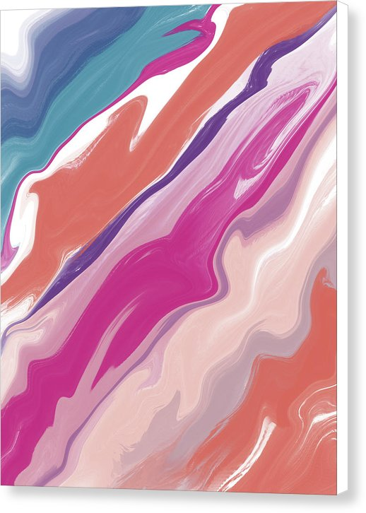 Diagonal Acrylic Pour by Jessica Contreras - Canvas Print from Wallasso - The Wall Art Superstore