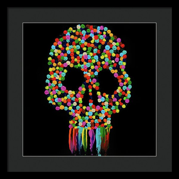 Paint Dollop Skull by Jessica Contreras - Framed Print from Wallasso - The Wall Art Superstore