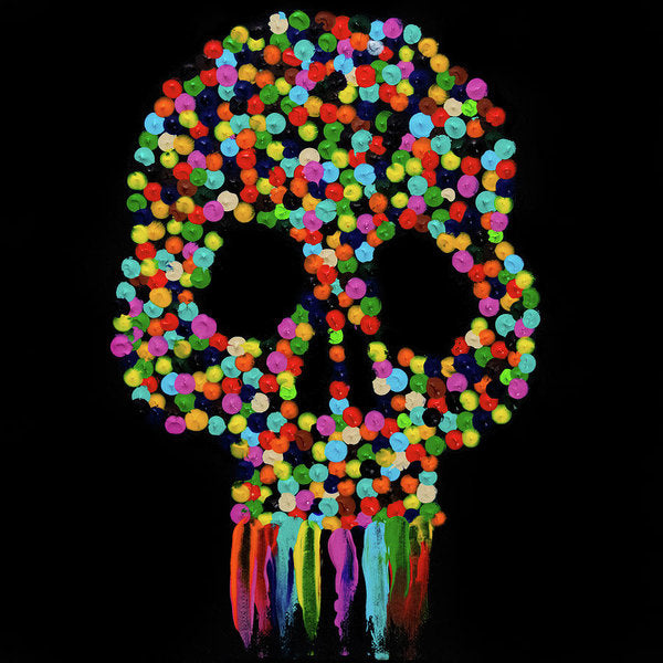 Paint Dollop Skull by Jessica Contreras - Art Print from Wallasso - The Wall Art Superstore
