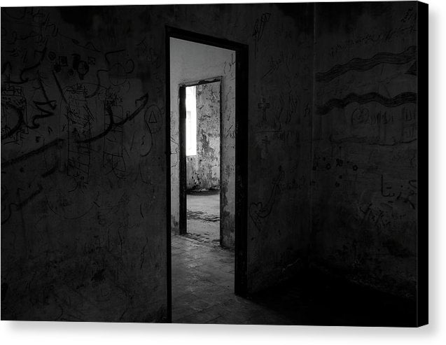 Doorways In An Abandoned House - Canvas Print from Wallasso - The Wall Art Superstore