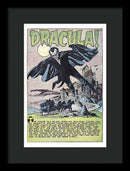 Dracula, Vintage Comic Book Alternate Color - Framed Print from Wallasso - The Wall Art Superstore
