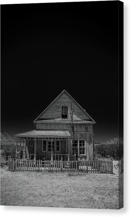 Dramatic Ghost Town Homestead - Canvas Print from Wallasso - The Wall Art Superstore