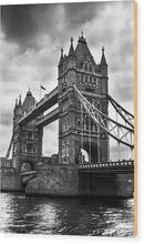 Dramatic Tower Bridge - Wood Print from Wallasso - The Wall Art Superstore