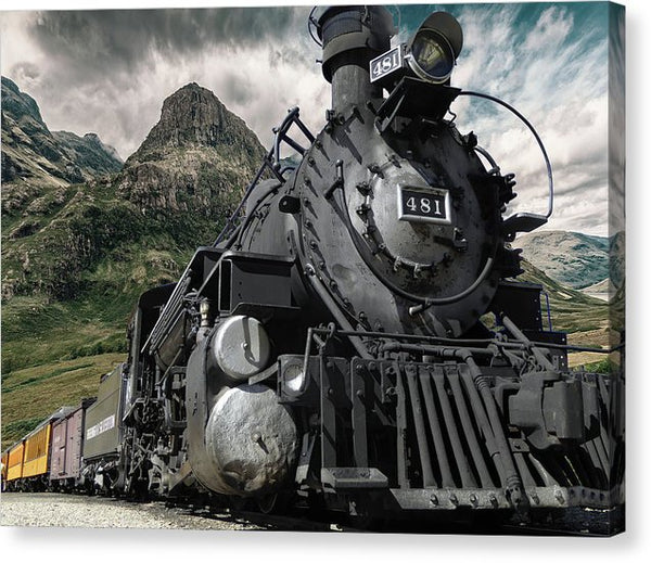 Durango and Silverton Narrow Gauge Railroad Train - Canvas Print from Wallasso - The Wall Art Superstore