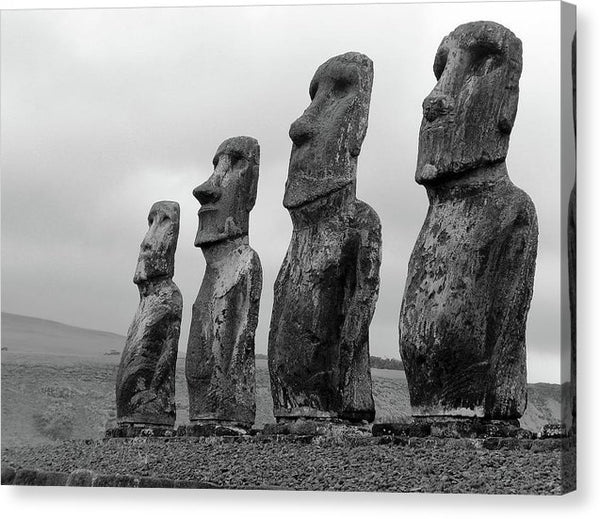 Eastern Island Statues - Canvas Print from Wallasso - The Wall Art Superstore