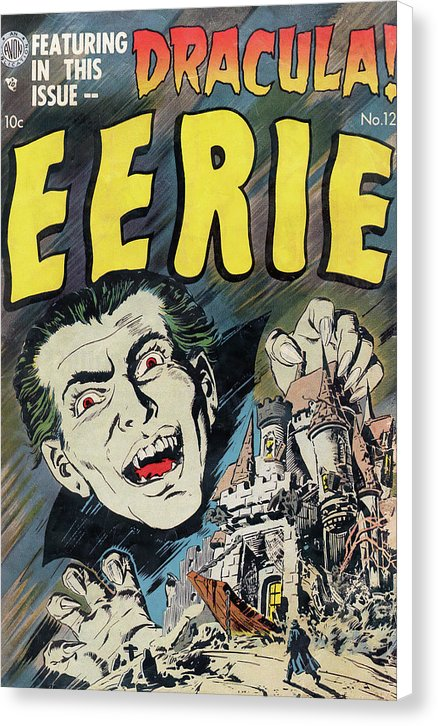 Eerie Dracula, Vintage Comic Book Alternate - Canvas Print from Wallasso - The Wall Art Superstore