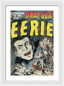 Eerie Dracula, Vintage Comic Book Alternate - Framed Print from Wallasso - The Wall Art Superstore