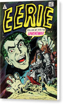 Eerie Dracula, Vintage Comic Book - Canvas Print from Wallasso - The Wall Art Superstore