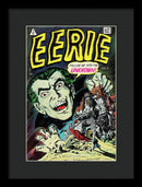 Eerie Dracula, Vintage Comic Book - Framed Print from Wallasso - The Wall Art Superstore