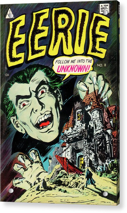 Eerie Dracula, Vintage Comic Book - Acrylic Print from Wallasso - The Wall Art Superstore