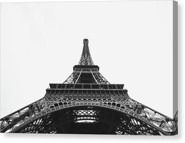 Eiffel Tower Looking Up - Canvas Print from Wallasso - The Wall Art Superstore