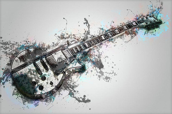 Electric Guitar Design - Art Print from Wallasso - The Wall Art Superstore