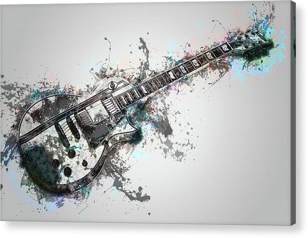 Electric Guitar Design - Acrylic Print from Wallasso - The Wall Art Superstore