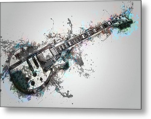 Electric Guitar Design - Metal Print from Wallasso - The Wall Art Superstore