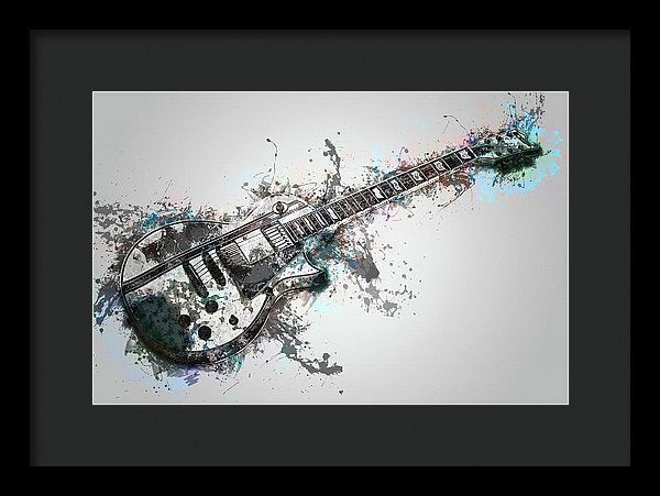 Electric Guitar Design - Framed Print from Wallasso - The Wall Art Superstore
