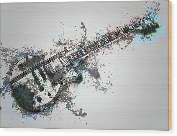Electric Guitar Design - Wood Print from Wallasso - The Wall Art Superstore