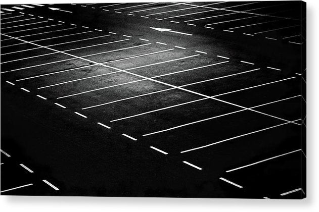 Empty Parking Lot - Acrylic Print from Wallasso - The Wall Art Superstore