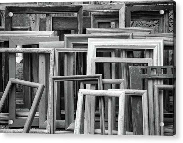 Empty Picture Frames - Acrylic Print from Wallasso - The Wall Art Superstore