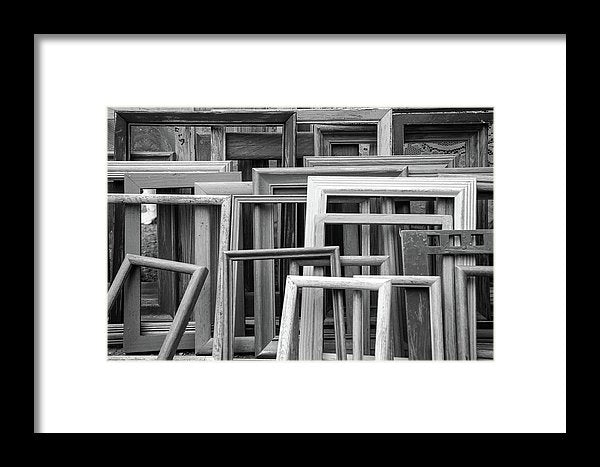 Empty Picture Frames - Framed Print from Wallasso - The Wall Art Superstore