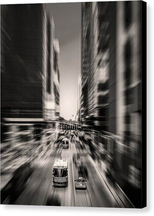 Energetic City Street With Blurry Motion - Canvas Print from Wallasso - The Wall Art Superstore
