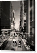 Energetic City Street With Blurry Motion - Acrylic Print from Wallasso - The Wall Art Superstore