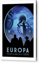 Europa Visions of The Future Vintage Travel Poster - Acrylic Print from Wallasso - The Wall Art Superstore