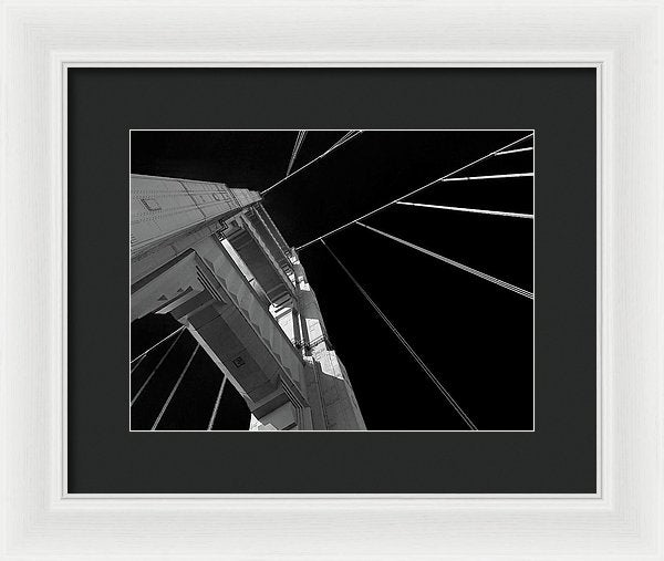 Extreme Upward Angle of Golden Gate Bridge, San Francisco - Framed Print from Wallasso - The Wall Art Superstore