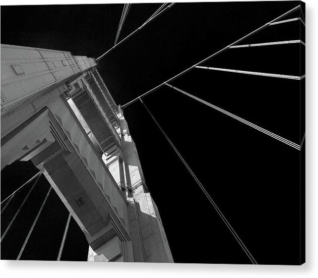 Extreme Upward Angle of Golden Gate Bridge, San Francisco - Acrylic Print from Wallasso - The Wall Art Superstore