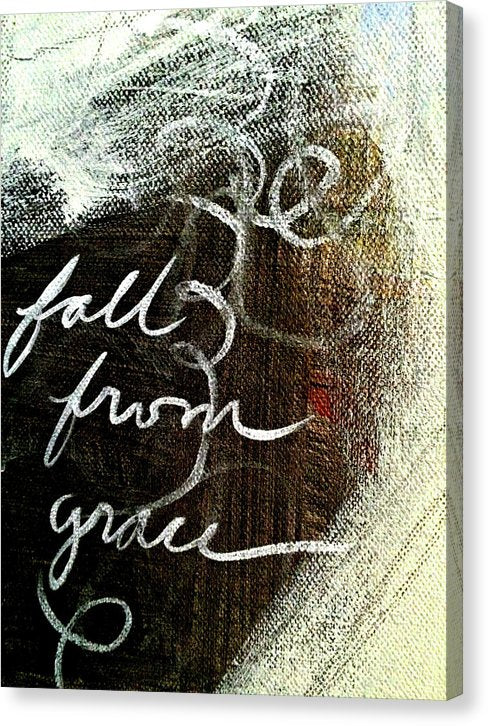 Fall From Grace Abstract Painting - Canvas Print from Wallasso - The Wall Art Superstore