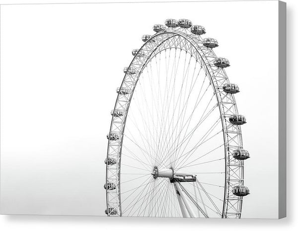 Ferris Wheel, Black and White - Canvas Print from Wallasso - The Wall Art Superstore