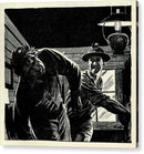 Fighting Miners Panel, Vintage Comic Book - Acrylic Print from Wallasso - The Wall Art Superstore