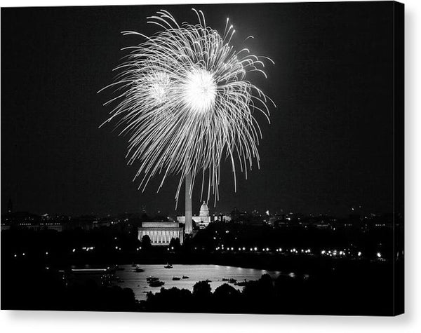 Fireworks Over Washington, D.C. - Canvas Print from Wallasso - The Wall Art Superstore