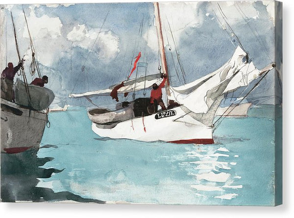 Fishing Boats Key West by Winslow Homer, 1903 - Canvas Print from Wallasso - The Wall Art Superstore