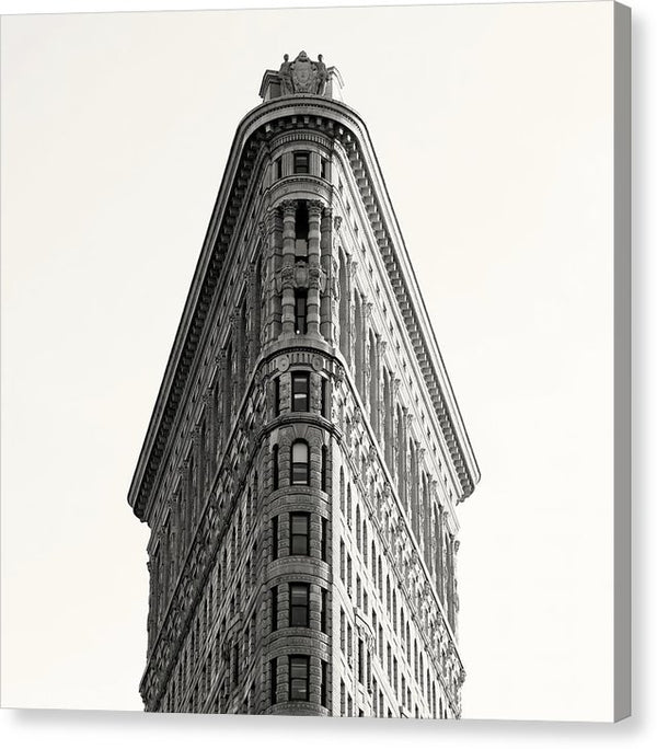Flatiron Building, New York City Sepia - Canvas Print from Wallasso - The Wall Art Superstore