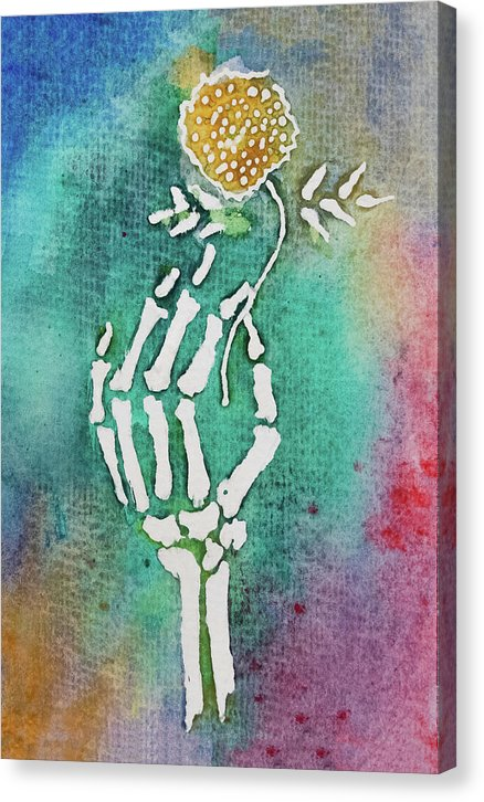 Flor De Muertos by Jessica Contreras - Canvas Print from Wallasso - The Wall Art Superstore