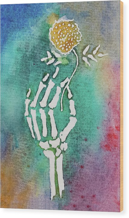 Flor De Muertos by Jessica Contreras - Wood Print from Wallasso - The Wall Art Superstore