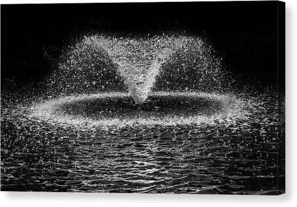 Fountain Spraying Water - Canvas Print from Wallasso - The Wall Art Superstore