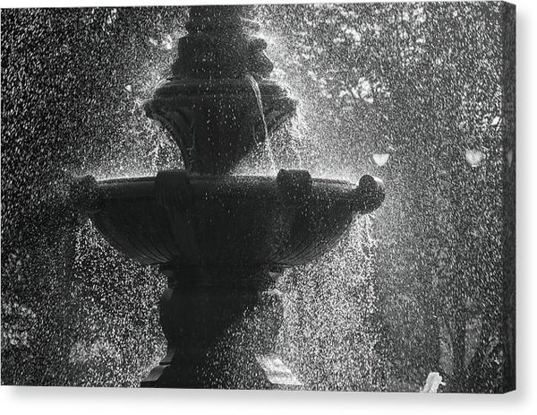 Fountain With Water Drops - Canvas Print from Wallasso - The Wall Art Superstore