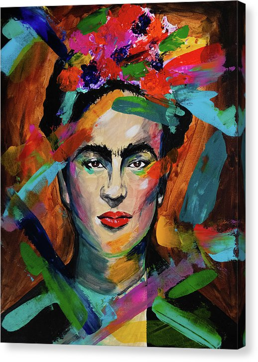 Frida by Jessica Contreras - Canvas Print from Wallasso - The Wall Art Superstore