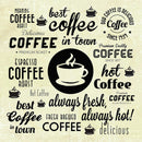 Fun Coffee Collage - Art Print from Wallasso - The Wall Art Superstore