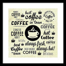 Fun Coffee Collage - Framed Print from Wallasso - The Wall Art Superstore