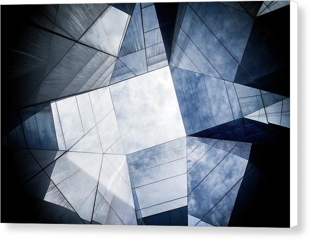 Geometric Roof Architecture - Canvas Print from Wallasso - The Wall Art Superstore