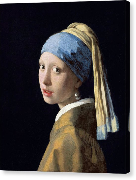 Girl With A Pearl Earring by Johannes Vermeer, 1665 - Canvas Print from Wallasso - The Wall Art Superstore